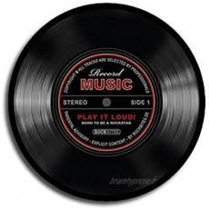 Tapis de souris Disque Record Music noir