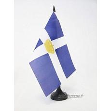AZ FLAG Drapeau de Table Royaume de Grèce 1863-1973 21x14cm Petit Drapeaux DE Bureau Grec Ancien 14 x 21 cm